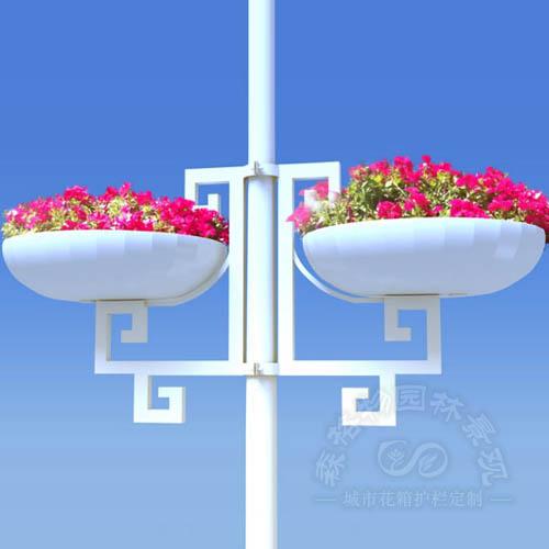 路灯装饰花盆