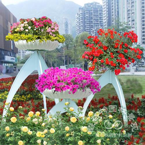 『花之鼎』,园林立体花架,龙纹花架