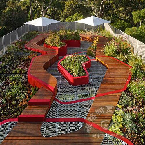 屋顶花园,屋顶绿化景观设计