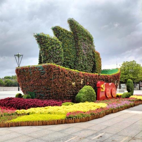 植物雕塑,绿色雕塑,立体花坛