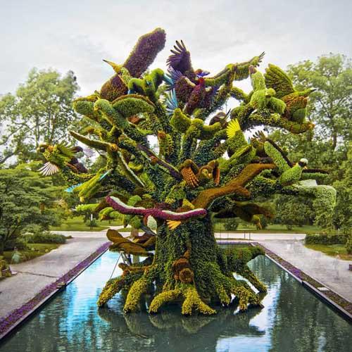 植物雕塑,立体花坛,园林艺术