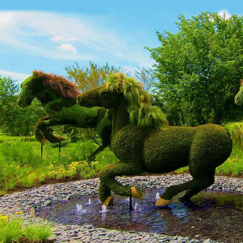景观动物绿植雕塑花坛,绿雕