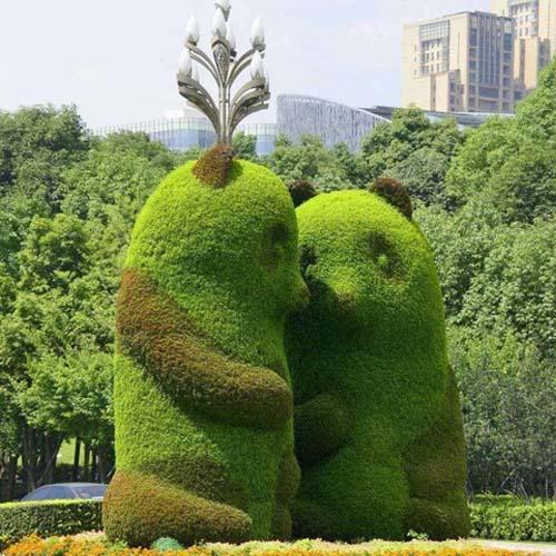 仿真绿雕,立体花坛