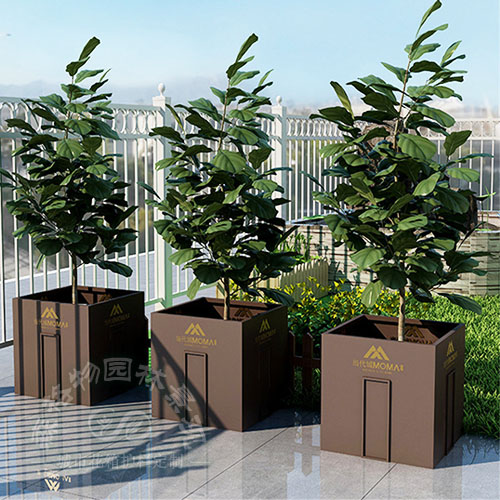 源头厂家 支持定制 景观提升 镀锌钢板 金属材质 树池 镀锌钢板花箱