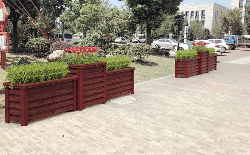 森格物木纹铝合金花箱价格便宜又耐用