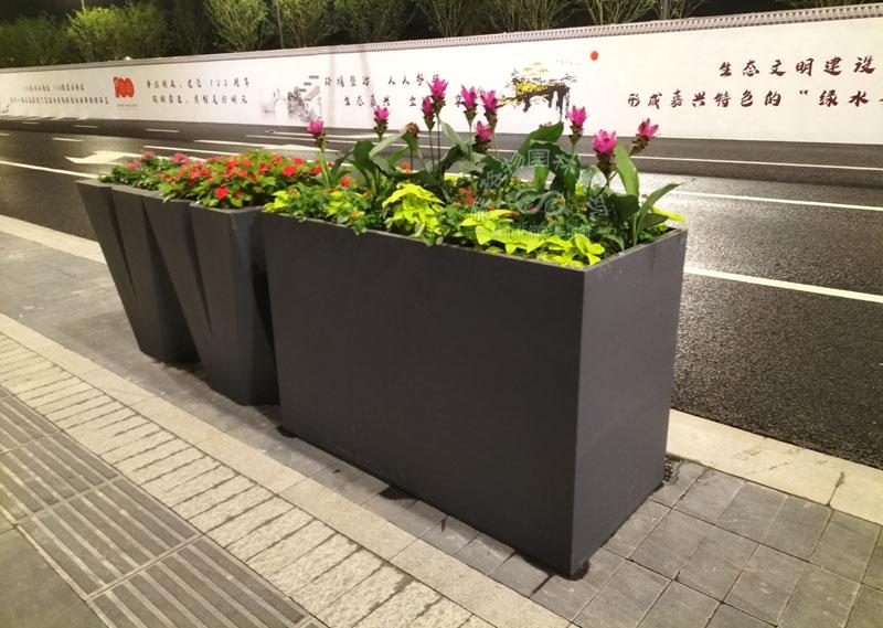 什么是铁艺道路花箱,这样的花箱好用吗?