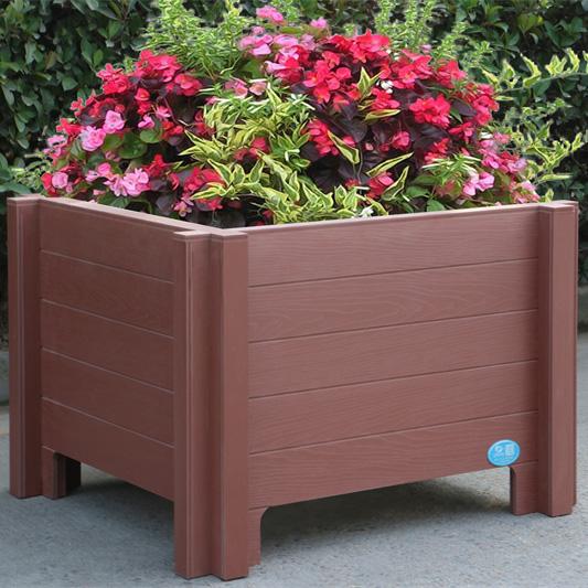 方形公园PVC花箱