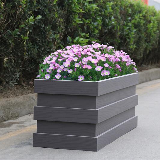 亚灰pvc公园花箱