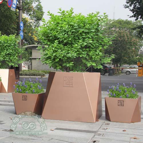 多边形不锈钢镜面树池花箱