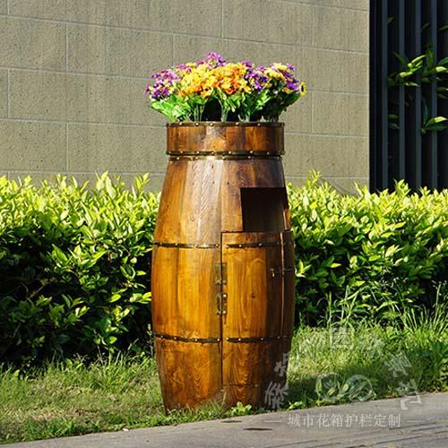 樟子松防腐木垃圾桶花箱
