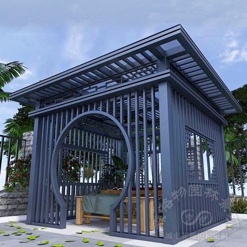 铝合金新中式四角凉亭