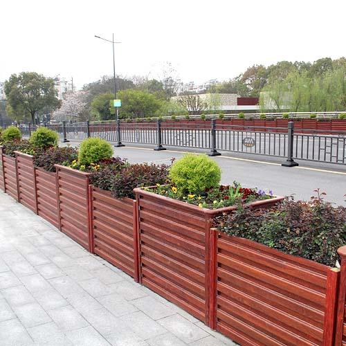 红檀木纹桥梁铝合金花