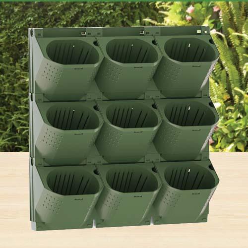 墙体立面绿化花箱