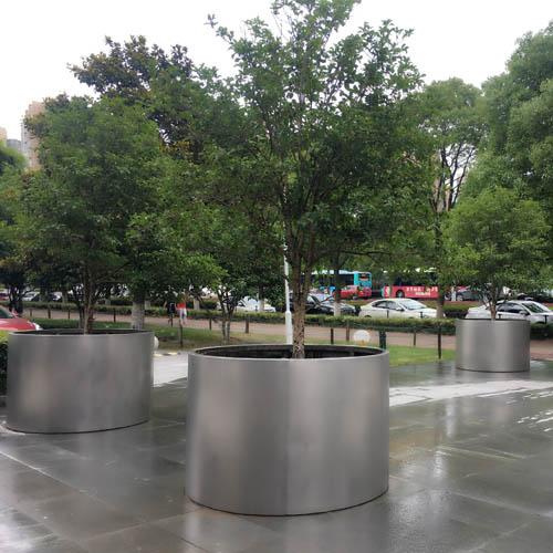 树围不锈钢圆形花箱