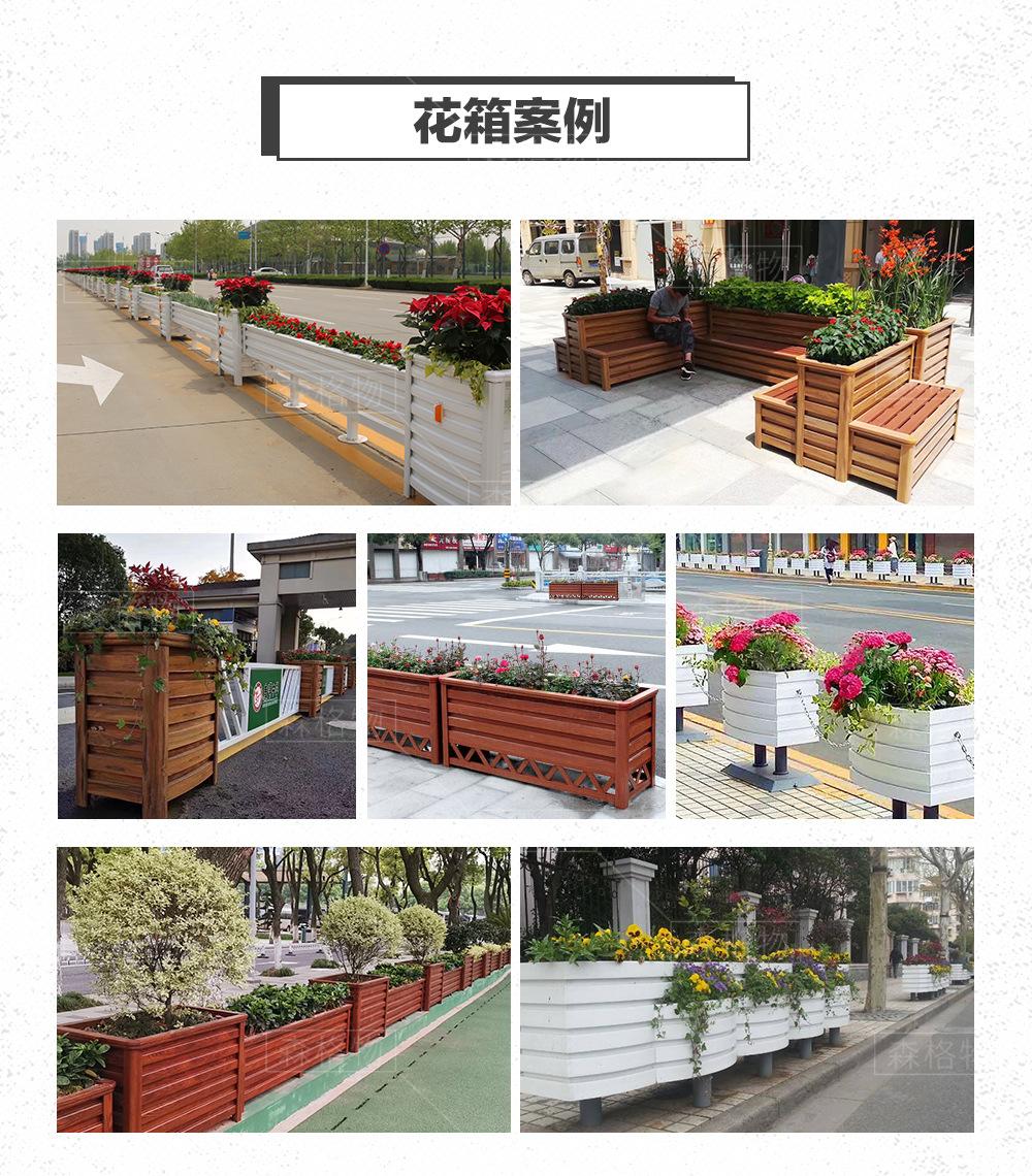 木塑pvc发泡道路景观提升pvc花箱