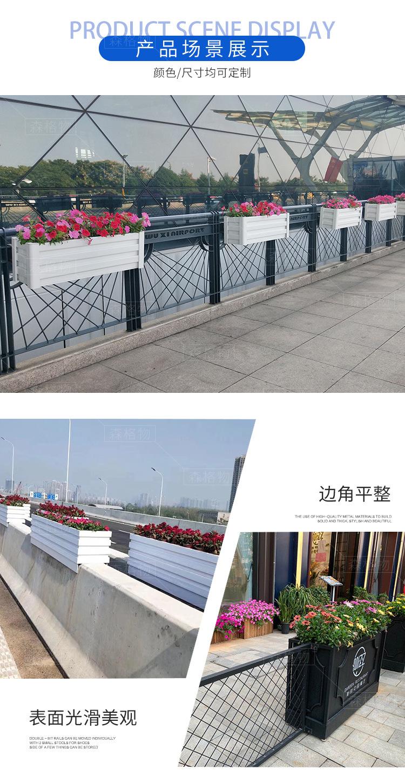 微发泡木塑桥梁壁挂pvc花箱