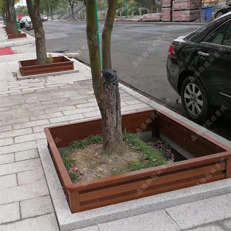 四边形铝合金树围花箱