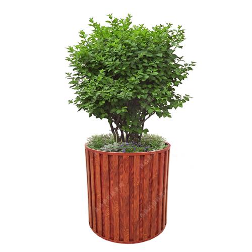 圆形铝合金树围花箱
