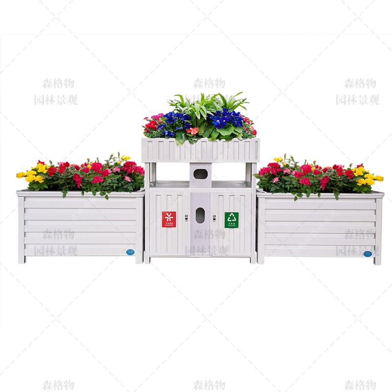 垃圾桶组合花箱