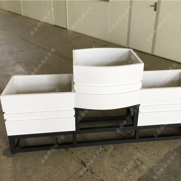 方形圆弧护栏PVC花箱
