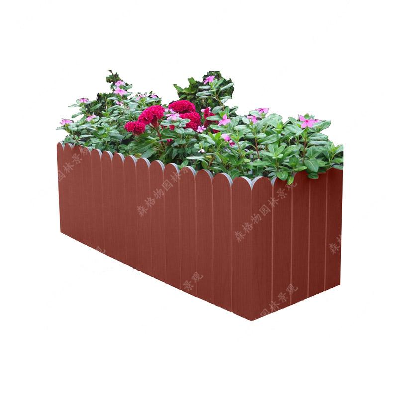 仿实木PVC花箱护栏