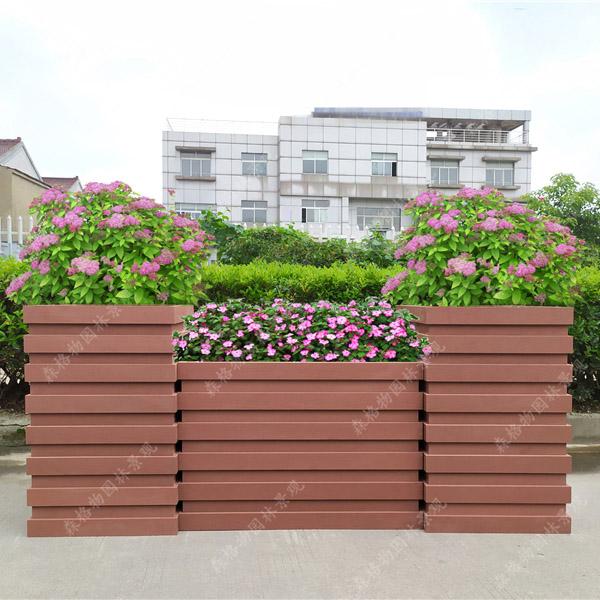 条形PVC花箱组合