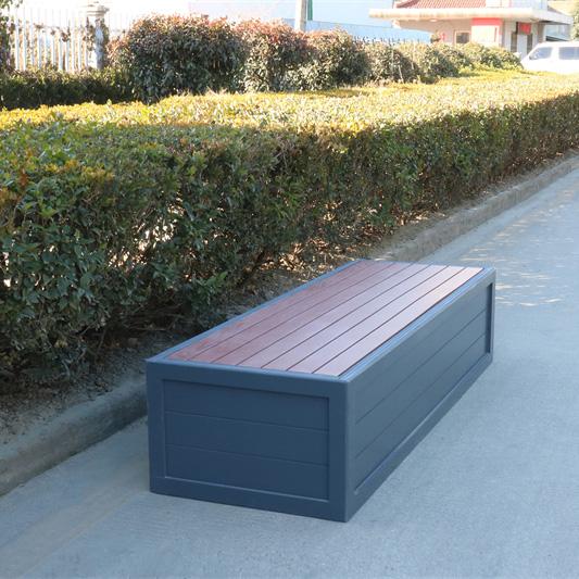 pvc公园花箱座椅
