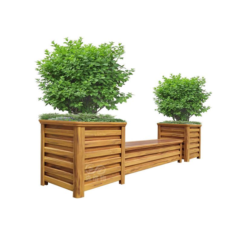 公园景观座椅花箱