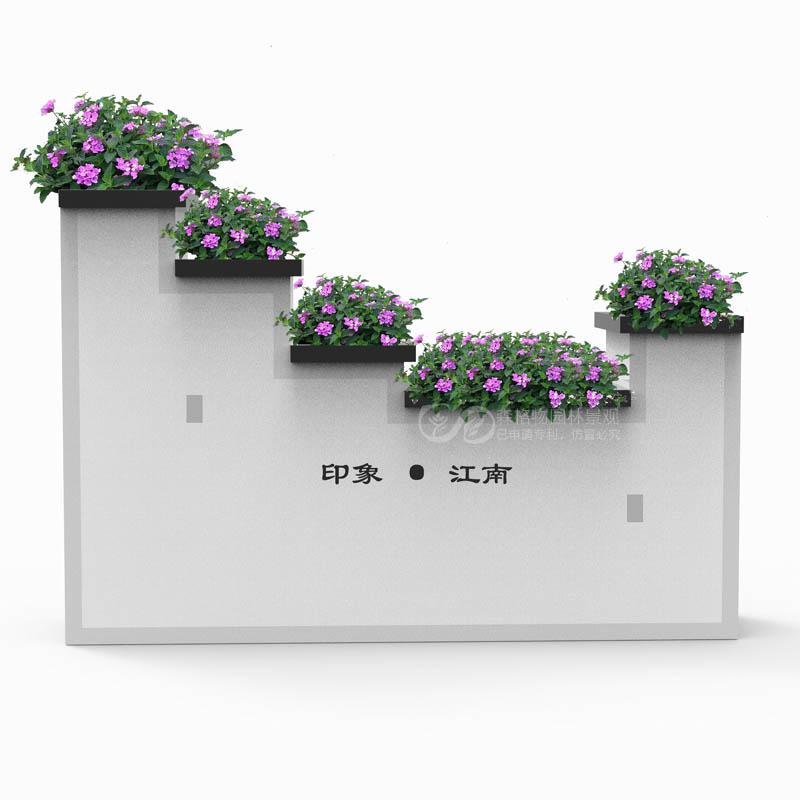 印象江南不锈钢花箱