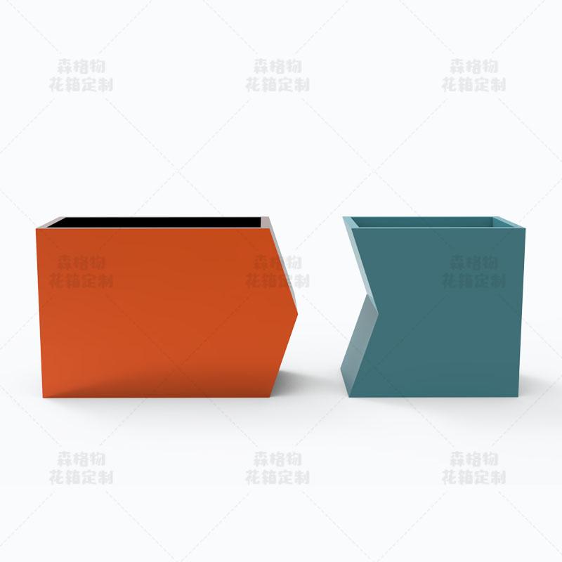 几何形不锈钢花箱