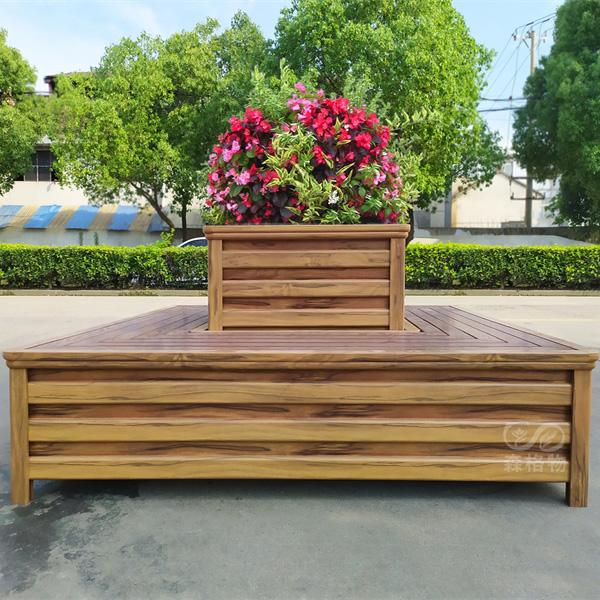 公园铝合金花箱座椅