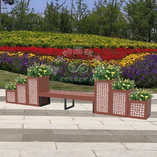 景观花箱长凳座椅