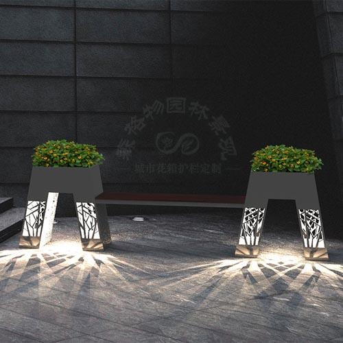 智慧灯光花箱座椅