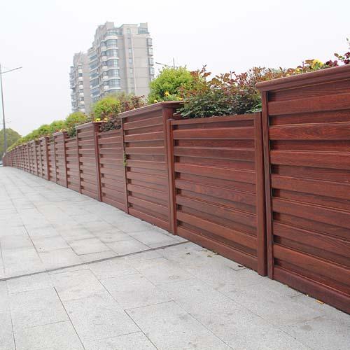 红檀木纹桥梁铝合金花箱