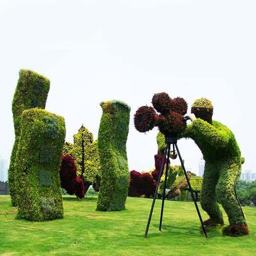 仿真绿雕立体花坛