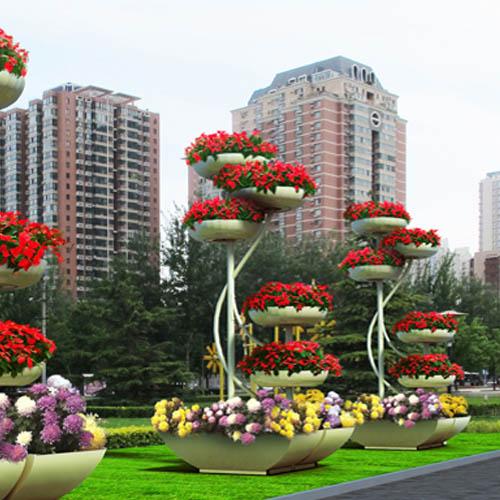 『婀娜多姿』户外大型艺术花架
