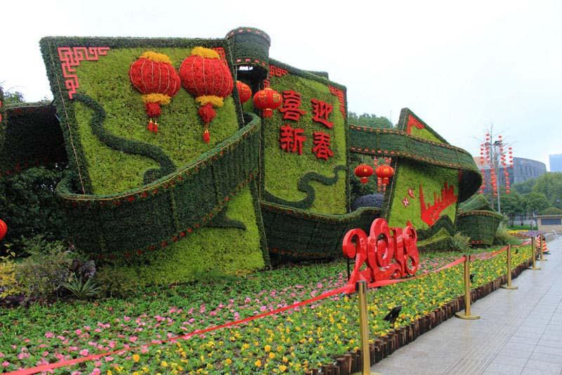 国庆绿雕_绿雕造型_春节绿雕都有哪些常见的造型